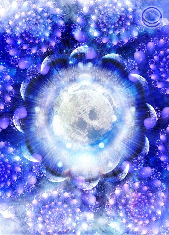 22 22 Silver Platinum Star Gate of Moons from Angela McGerrs Love Light Cards