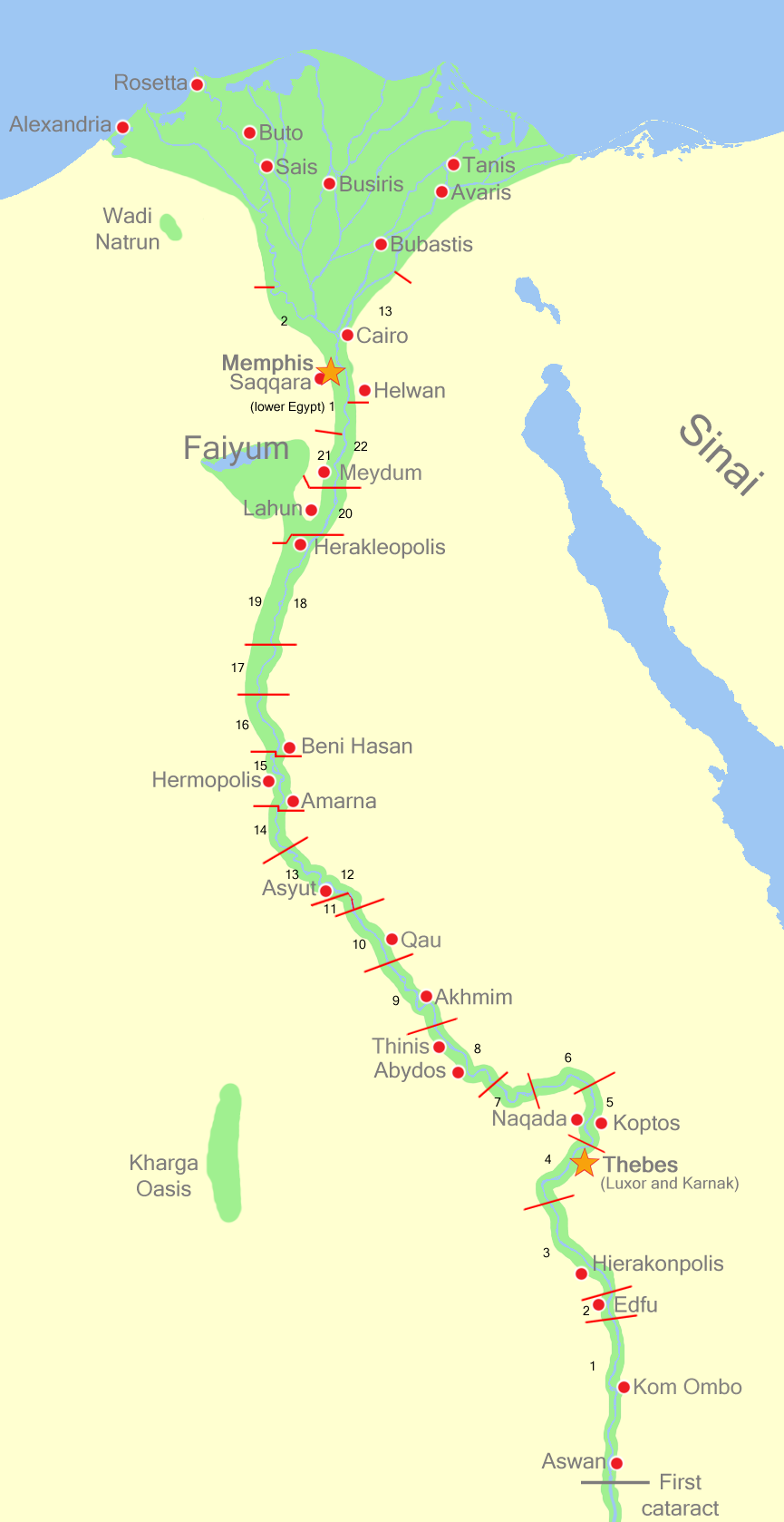 Map of Lower Egypt from Wikipedia