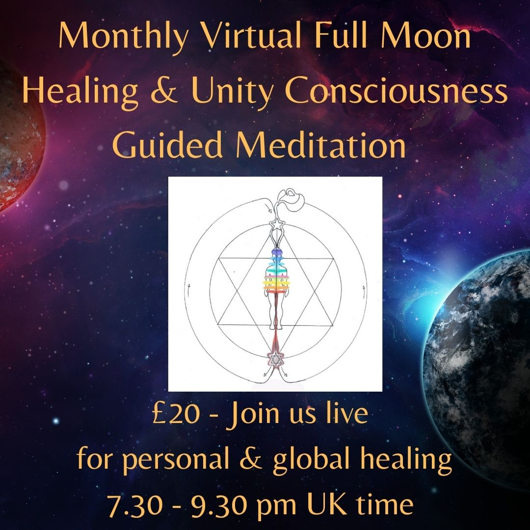 Monthly Full Moon Virtual Healing & Unity Consciousness Guided Meditation