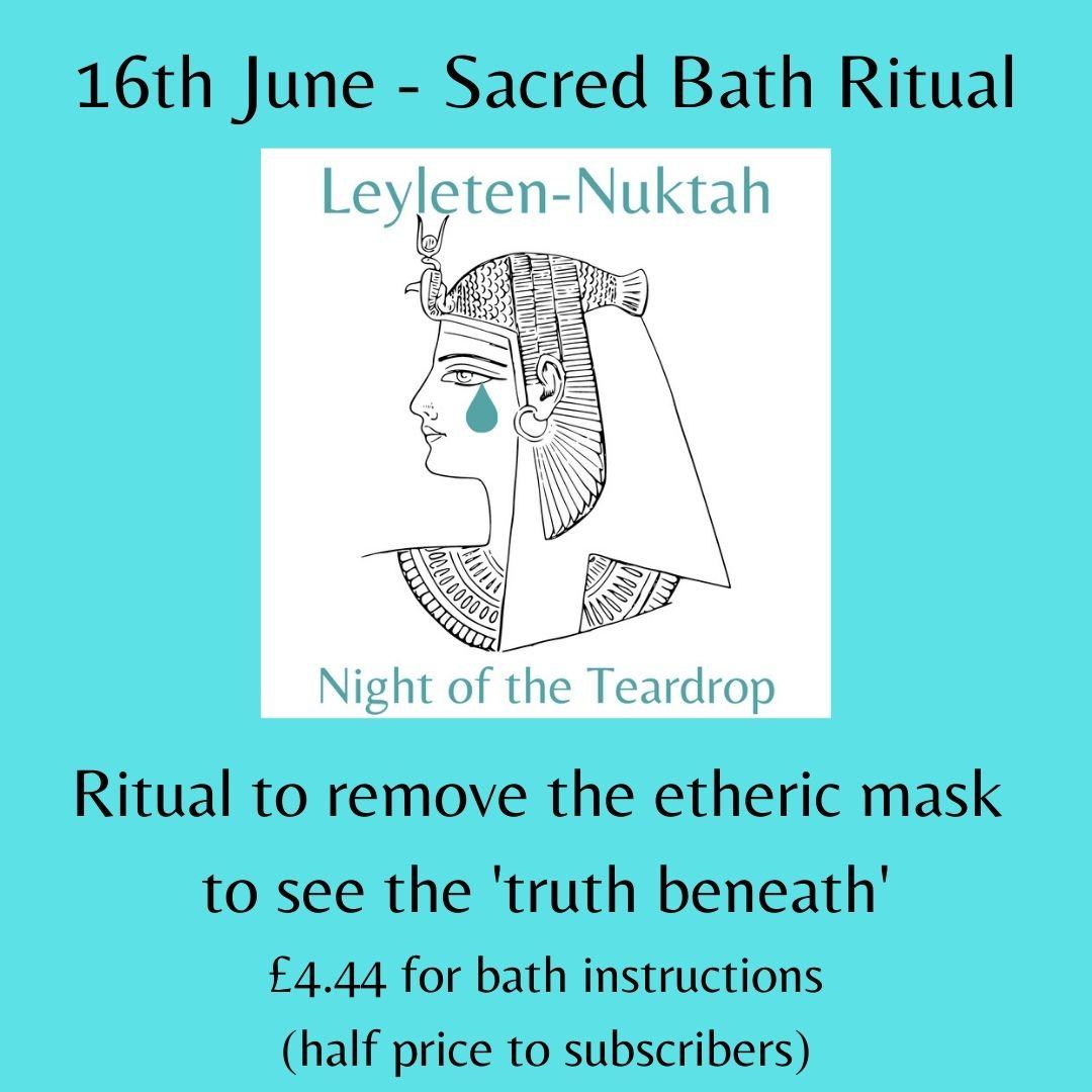 Night of the Teardrop - Sacred Bath Ritual